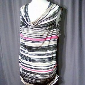 Dana Buchman size XL drape neck tunic top